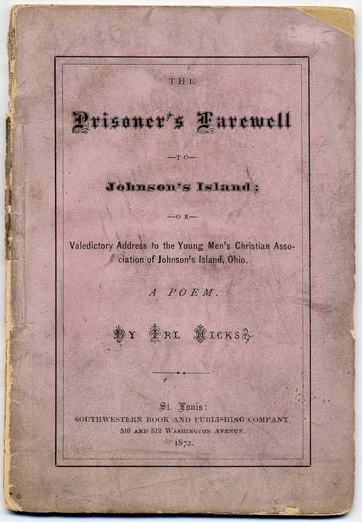 Cover of YMCA Farewell Poem. (R. Ibos Collection)