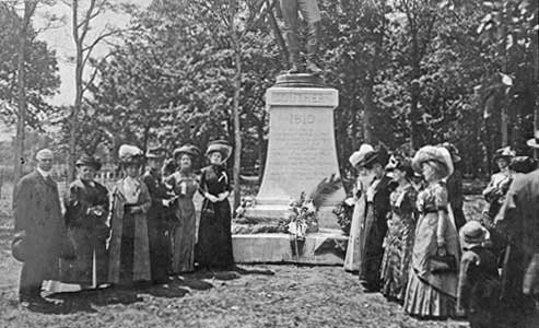 This photograph was taken at the dedication ceremony of the Bronze Monument to Confederate Soldiers in Johnson's Island, Ohio, Stockade Cemetery, .on June 8, 1910. Courtesy of M. Demattia.